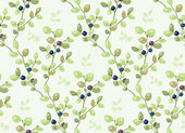 Tiled pattern with blueberry bushes — Stock Vector