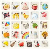 Alphabet for children — Stock Vector