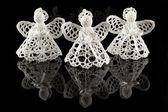 Angels made crochet — Stock Photo