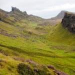 Quiraing mountain range landscape, Isle of Skye Scotland, UK. — Stock Photo