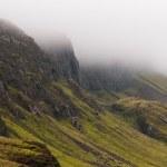 Quiraing mountain range, Isle of Skye, Scotland — Stock Photo