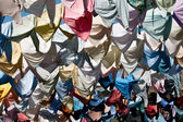 Hanged Colourful shirts — Stock Photo