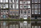 Windows from a builsing in Amsterdam — Stock Photo