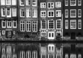 Windows from a building in Amsterdam — Stock Photo