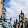 Statue of David Hume, Edinburgh - Stock Photo