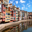 Girona city in Spain - Stock Photo