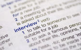 Interview definition — Stock Photo