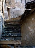 Abandoned damaged stairs — Stock Photo