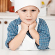 Portrait of a little chef hat and apron — Stok fotoğraf