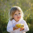 Child, corn — Stock Photo