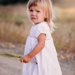 Little crying girl — Stockfoto
