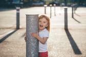 Little pretty girl riding — Fotografia Stock