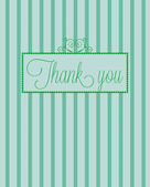 Elegant thank you card — Stock Vector