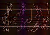 Bright music — Stock Vector