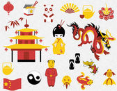 Chinese clipart set — Stock Vector