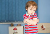 Offended little boy — Stock Photo