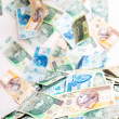 Falling Polish money — Stock Photo