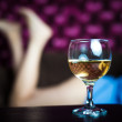 A glass of white wine — Stockfoto #22322525