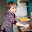 Boy cleaning the kitchen — Stock Photo #23580877