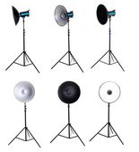 Photo studio equipment beauty dish isolated — Stock Photo