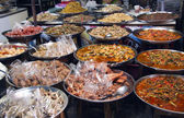 Thai street food on market — Stock Photo