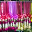Stock Photo: Multi coloured garlands in row