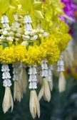 Thai style Yellow garlands — Stock Photo