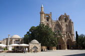 Lala Mustafa Pasa Mosque (formerly St Nicholas Cathedral), Famagusta, Northern Cyprus — Stock Photo