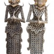 Pair of  Indonesian puppets Indonesian puppet made from metal coins — Stock Photo