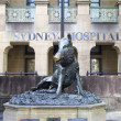 Hog Statue outside Sydney Hospital, Sydney, Australia — Stock Photo