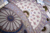 Ceiling in the Blue (Sultan Ahmed) Mosque, Istanbul, Turkey — Stock Photo