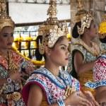 Постер, плакат: BANGKOK THAILAND APR 25TH: Dancers perform at the Erawan Shrine