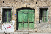 Green doors — Stock Photo