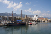 View over Kyrenia (Girne) harbour — Stock Photo