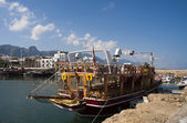 Tourist boat in Kyrenia — Stock Photo