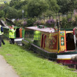 Stock Photo: DIGGLE, ENGLAND - Aug 19TH: Waterway officials check boats befor