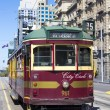 Stock Photo: A Melbourne, Australia vintage city circle tram