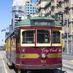 A Melbourne, Australia vintage city circle tram — Stock Photo #26197983