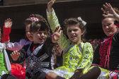 SYDNEY, AUSTRALIA - Mar 17TH: Children waving during the St Pat — Stock Photo