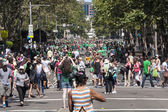 SYDNEY, AUSTRALIA - Mar 17TH: Crowds celebrating St Patrick's Da — Stock Photo
