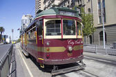 A Melbourne, Australia vintage city circle tram — Stock Photo