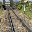Stock Photo: Railway bridge and track