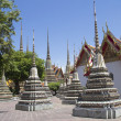 Stupas in Wat Po — Stock Photo