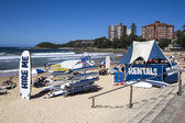 MANLY BEACH, SYDNEY,AUSTRALIA MARCH 13TH: Surfboards for hire on — Stock Photo
