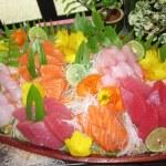 Plate of fresh sashimi — Stock Photo
