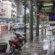 Stock Photo: BANGKOK, THAILAND-SEPT 25TH: Sukhumvit road during rainstorm o