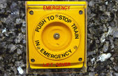 Emergency stop button — Stockfoto
