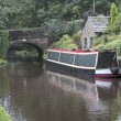 Stock Photo: Barge on Huddersfield canal