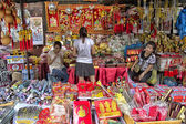 BANGKOK, THAILAND-OCTOBER 26TH 2013: A stall selling Chinese kni — Stock Photo