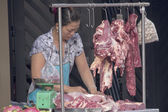 Meat vendor — Stock Photo
